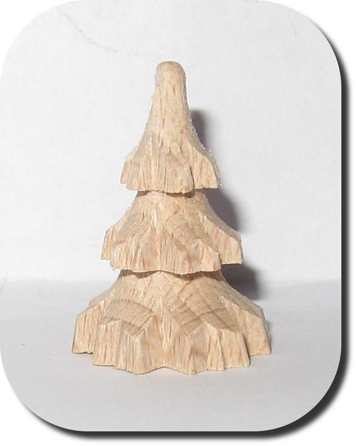 Tannenbaum Gedrechselt.Miniatur Tannenbaum Mini