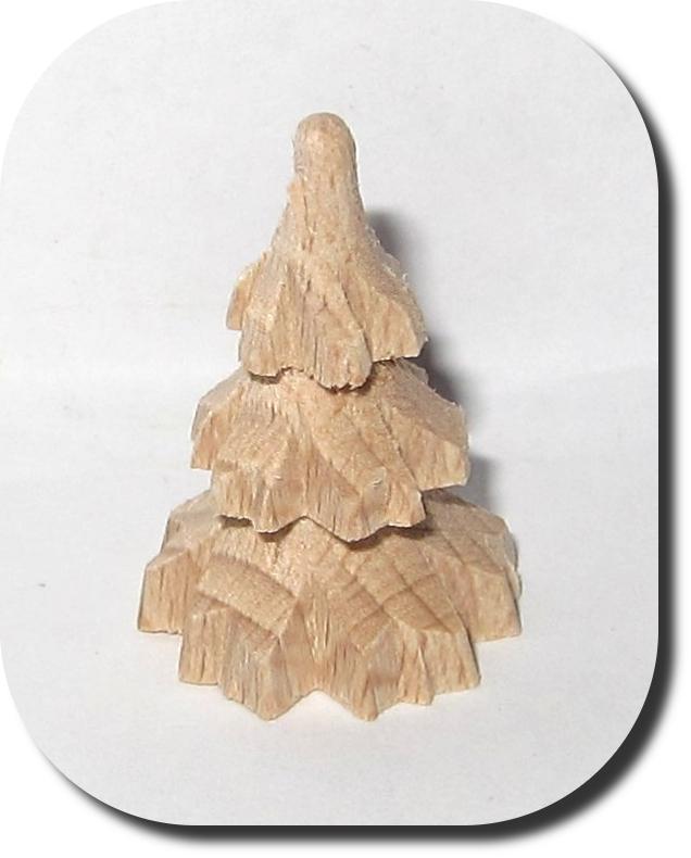 Tannenbaum Gedrechselt.Miniatur Tannenbaum Mini Miniaturen Holzdeko